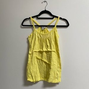 One Step Up Basic Yellow Tank Top